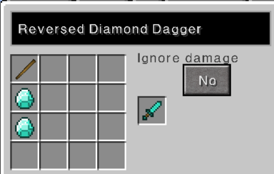 Reversed diamond dagger recipe