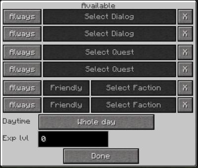 Redstone block menu 2
