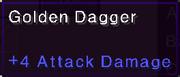 Gold dagger stats