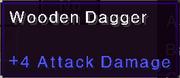 Wooden dagger stats