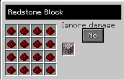 Redstone block recipe