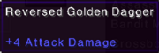 Reversed gold dagger stats