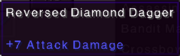 Reversed diamond dagger stats