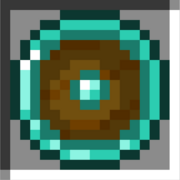 Round diamond shield icon
