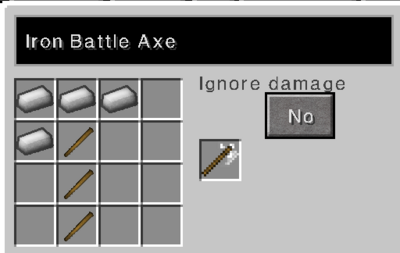 Iron battle axe recipe