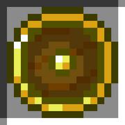 Round gold shield icon