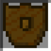 Wooden shield icon