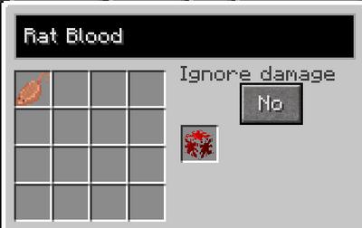 Rat blood recipe