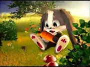 Schnuffel Bunny holding a carrot
