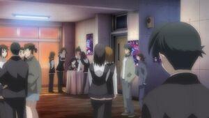 Makoto watching kotonoha bullied
