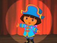 Pirate Dora in the spotlight