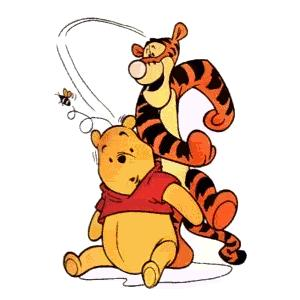 Pooh tigger catching bee