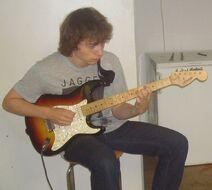 Max gitaar opnemen in 2014