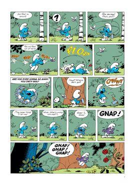 Smurf comic purple