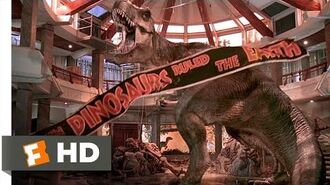 Jurassic Park (10 10) Movie CLIP - T-Rex vs. the Raptors (1993) HD