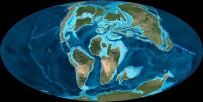 Late Cretaceous Map