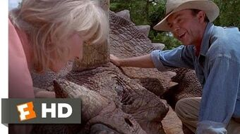 Jurassic Park (3 10) Movie CLIP - The Sick Triceratops (1993) HD-0