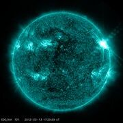 220px-Sunspots and Solar Flares