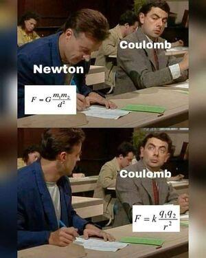Humor-Newton-Coulomb-goog