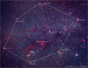Stars-Castor-Pollux-Procyon-Aldebaran-Rigel-Betelgeuse-goog