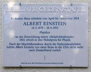 Gedenktafel Ehrenbergstr 33 (Dahl) Albert Einstein