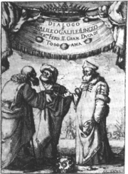 Frontpage of Dialogo di Galileo Galilei Linceo