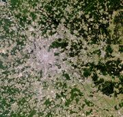 Moscow Urban Agglomeration, Russia, LandSat-7 image