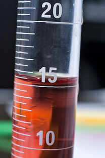 Red substance in half filled test tube