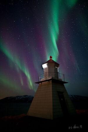 Astrophotographer Helge Mortensen photographed the aurora on Jan 22 2012 in Kattfjord outside Tromsο Norway
