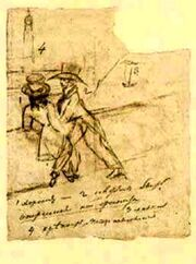 Pushkin Selfportrait with Onegin