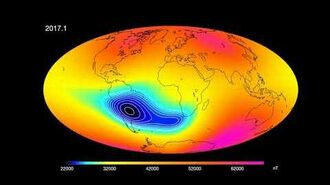 Development of the South Atlantic Anomaly