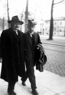 Niels Bohr Albert Einstein2 by Ehrenfest