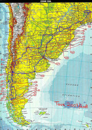 SOUTH AMERICA - AMERICA DEL SUR - AMÉRICA DO SUL- mapa (map) completo do