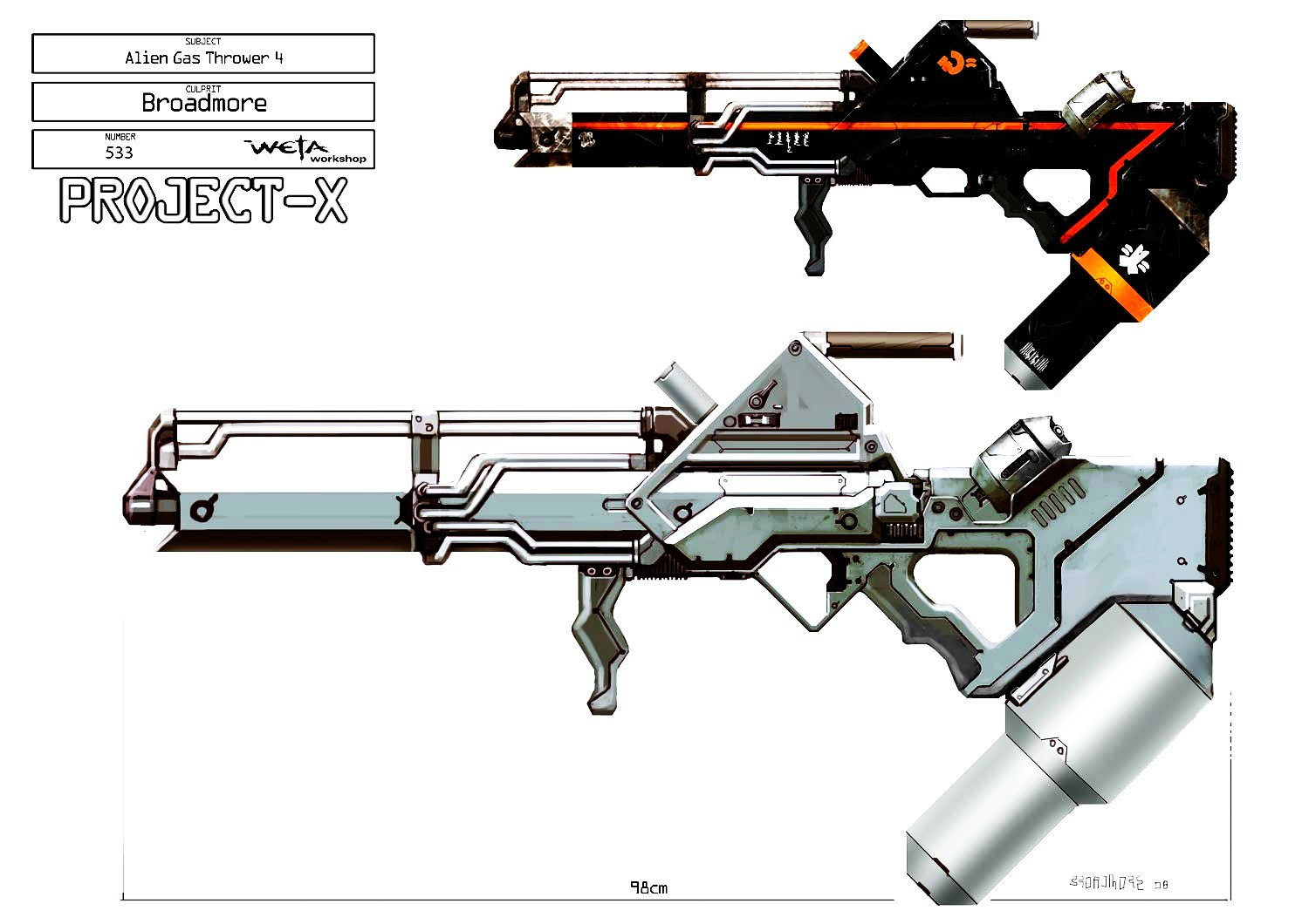 Image result for sci fi flamethrower