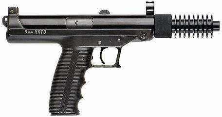 Claridge Hi-Tec S9 Pistol with Cooling Fin Muzzle Extension - 9mm