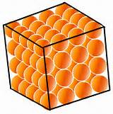 Picture of packed solid atoms
