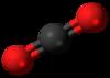 Carbon dioxide 3D ball