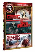 Maneater Series Triple Feature Croc, Sea Beast, Shark Swarm