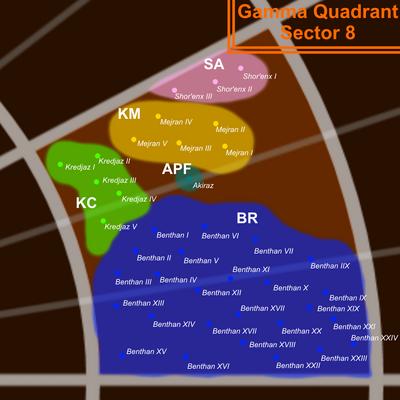Gamma 8 Map