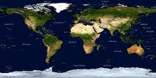 Physical earth satellite image mural borders labels lg