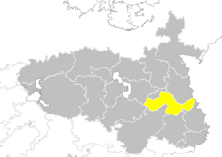 Nanzhao provinces map Shanxi