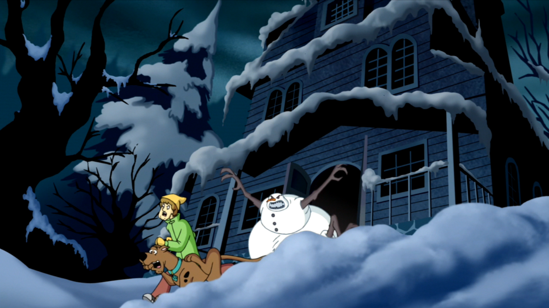 Headless Snowman Chases Shag And Scoob Out Of Jebu0026#039;s Home. Headless  Snowman Chases Shag And Scoob Out Of Jebu0026#039;s Home