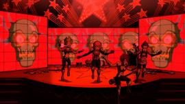 Phantom's head on screens (Stage Fright)