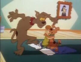 Nasty Doo haunts Shaggy and Scooby