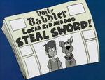Shag and Scoob reported as sword thieves