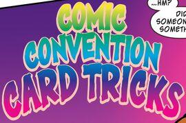 Comic Convention Card Tricks title card