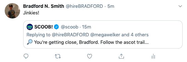 Scoob tweet to Bradford