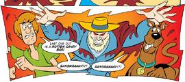 Ezekiel's Ghost attacks Shag and Scoob