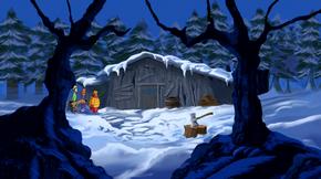 Theodore Schussman's cabin