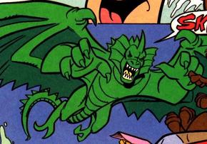 Flying monster (The Big Lake Fake)